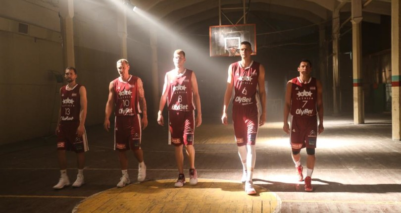 Latvijas valstsvienības vīriešu basketbola izlase Sarkandaugavā